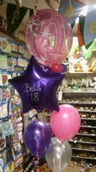Personalised Balloon cluster